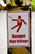 Beware of electric shock Stock Illustration