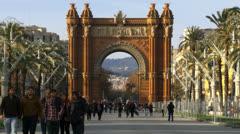 Barcelona 76 ArcDeTriomf Stock Footage