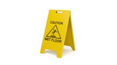 Wet floor Stock Footage