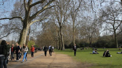St James's Park. London, UK. Stock Footage
