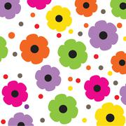 Stock Illustration of Floral seamless pattern in autumn colors
