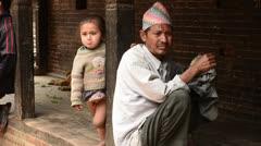 Nepali boy, girlish Stock Footage