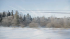 train winter background sound - stock footage