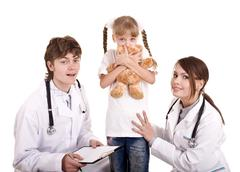 Group of doctor treat child. medicine. Stock Photos