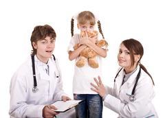 group of doctor treat child. medicine. - stock photo