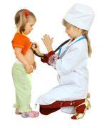 Children play doctor and nurse. Stock Photos