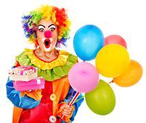 Stock Photo of portrait of clown.
