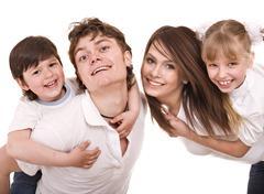 Onnellinen kotikasvatuksessa lapsia. Kuvituskuvat