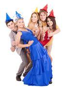 Nuorten ryhmä puolueen hattu. Kuvituskuvat