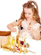 child cosmetics. - stock photo