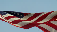 American Flag Waves Slow Motion - stock footage