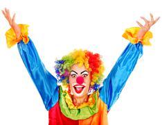 portrait of clown. - stock photo