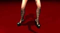 Dancing woman animation Stock Footage