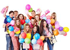Stock Photo of group people on party.