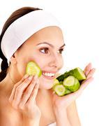 natural homemade vegetables  facial masks . - stock photo