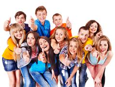 Stock Photo of group people isolated.