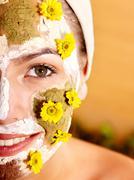 Natural homemade clay  facial masks . Stock Photos