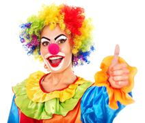 Stock Photo of portrait of clown.