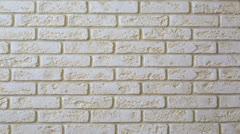 Panorama decorative tiles (brick wall). Stock Footage