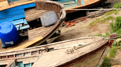 BOATS ON  LAND Stock Footage