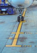 Stock photo: landing gear of airplane. ground preparations. Stock Photos