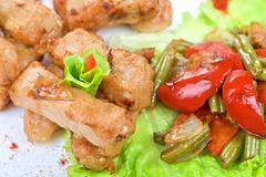 orient salad - stock photo