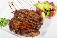 Beef steak with vegetable Stock Photos
