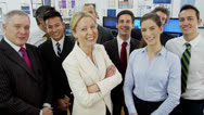 Portrait of a successful business team Stock Footage