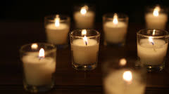 Festive Candles - stock footage