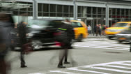 Crowd of people walking on a street time-lapse Stock Footage
