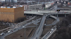 Highway junction Time Lapse Stock Footage
