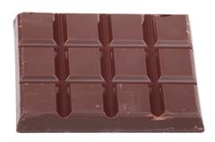 Stock Photo of bar of  brown chocolate isolated