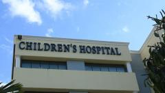 CHILDREN HOSPITAL building Stock Footage