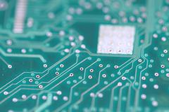 Green Circuit Board 2 Stock Photos
