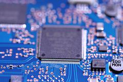 Blue circuit board 2 Stock Photos