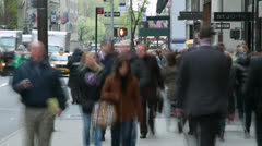 Crowd of people walking on a street time-lapse - stock footage