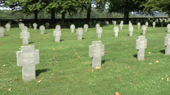 The German Military Cemetery at Belleau, Aisne-Marne, France. Stock Footage