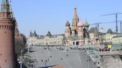 Moscow Kremlin and neighborhood Stock Footage