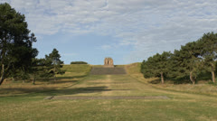 The French National Memorial to the Second Battle of the Marne, France. Stock Footage
