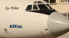 Cabin Tu-154 aircraft, the airline UTair Stock Footage