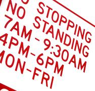 parking sign detail - stock photo