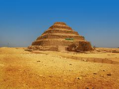The famous step pyramid of pharaoh djoser (or zoser), the first pyramid ever Stock Photos