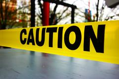 Caution tape Stock Photos