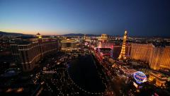 Las Vegas strip wide shot Stock Footage