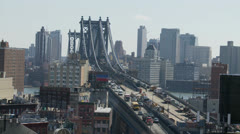 Stock Video Footage of Manhattan Bridge Time Lapse