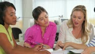 Group Of Women Meeting In Creative Office Stock Footage