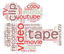 video camera - stock illustration