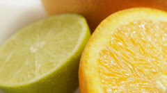 Citrus fruits turning - stock footage