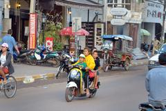 Stock Photo of Traffic in Vientiane, Laos