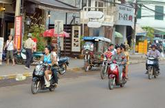 Street in vientiane Stock Photos